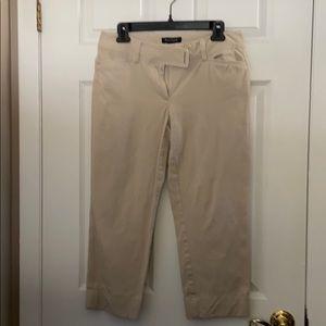 WHBM slim crop pants